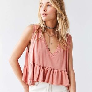 NWOT Urban Outfitters Mauve Cropped Tank